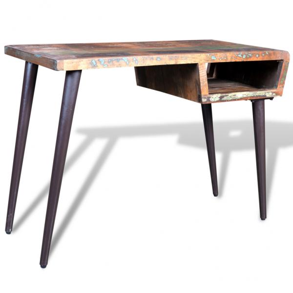 Shabby Chic Schreibtisch aus Massivholz / Teak