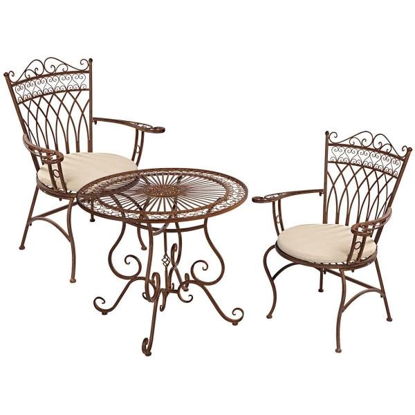 Gartenmöbel Set 3-tlg. Vintage-Look