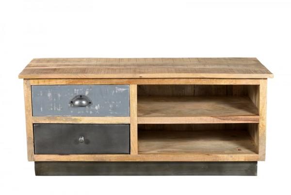 TV-Sideboard Industrial Look Massivholz