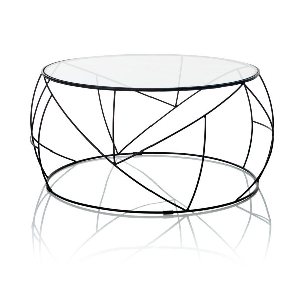Couchtisch Glas, rund - Skandinavischer-Look