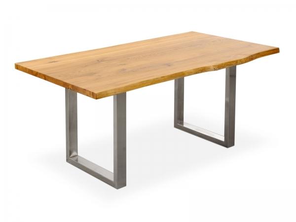 Industrie Möbel Esstisch aus Massivholz / Wildeiche