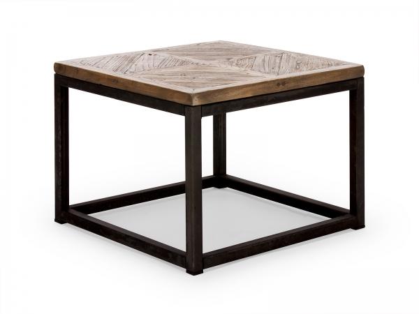 Industrie Design Couchtisch aus Massivholz