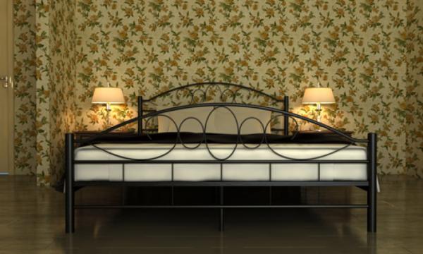 Metallbett Doppelbett mit Lattenrost 140 x 200 cm