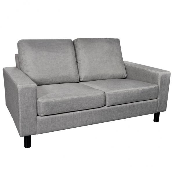 Sofa 2-Sitzer Couch aus Stoff