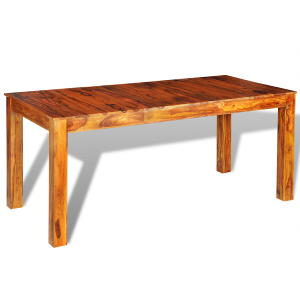 Massivholz Esstisch aus Sheeshamholz 180 cm