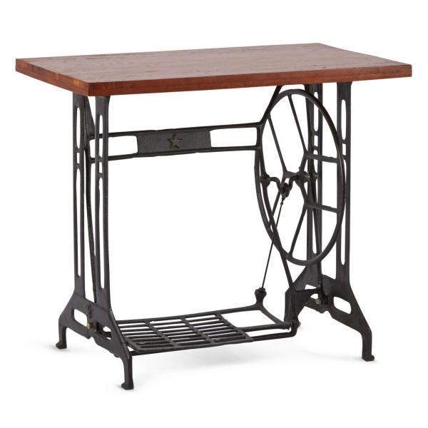 Industrial Tisch - Nähmaschinen Beistelltisch, Elisabeth, Massivholz