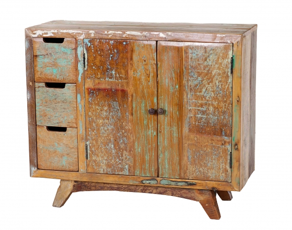 Schubladenkommode Shabby Chic aus Altholz - Recycling
