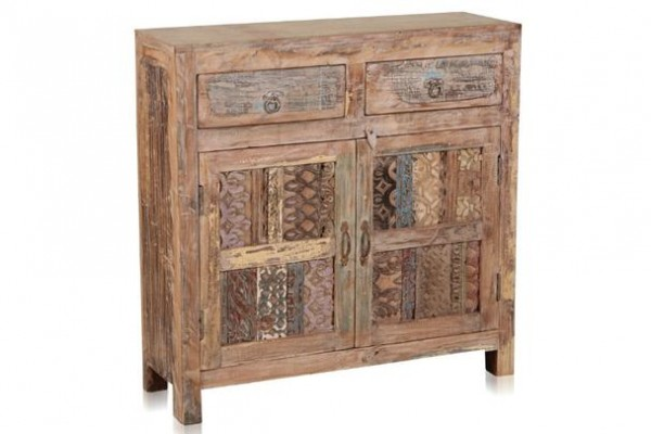 Shabby Chic Kommode indisch - Highboard aus Massivholz