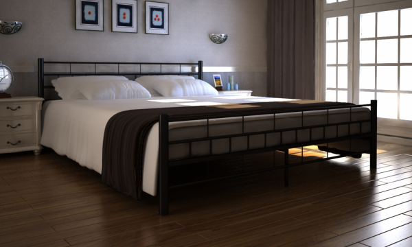 metall bett 180 x 200 cm mit matratze. Black Bedroom Furniture Sets. Home Design Ideas