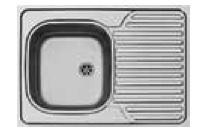 Auflagespüle 80 x 60 cm 1 Spülbecken