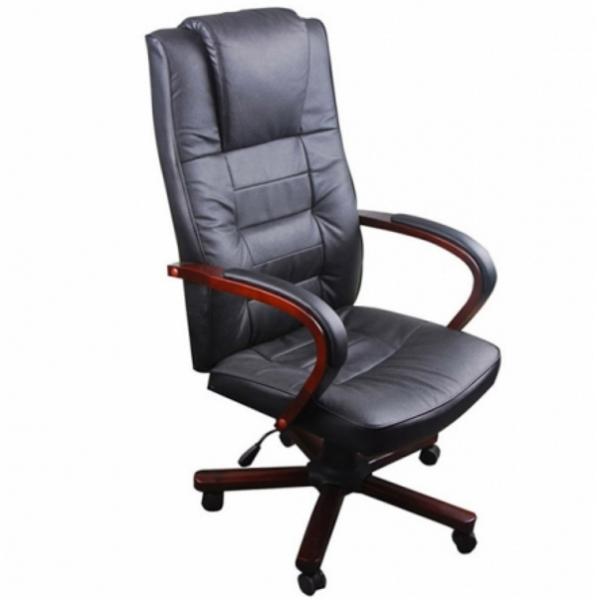 Bürostuhl Chefsessel Luxus IDEAL Leder schwarz