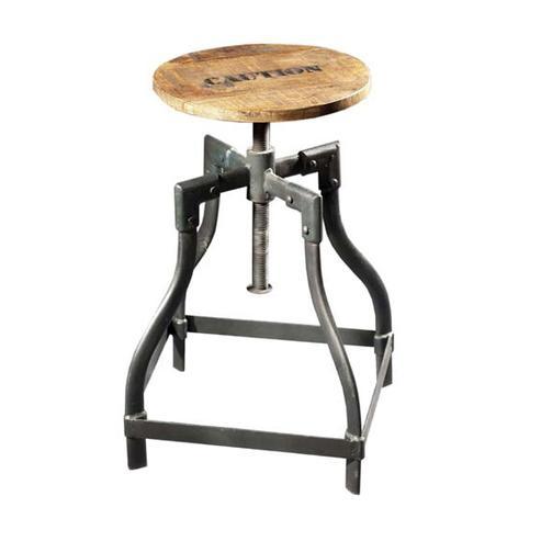 Barhocker aus Holz und Eisen im Industrie Industrial Chic Look