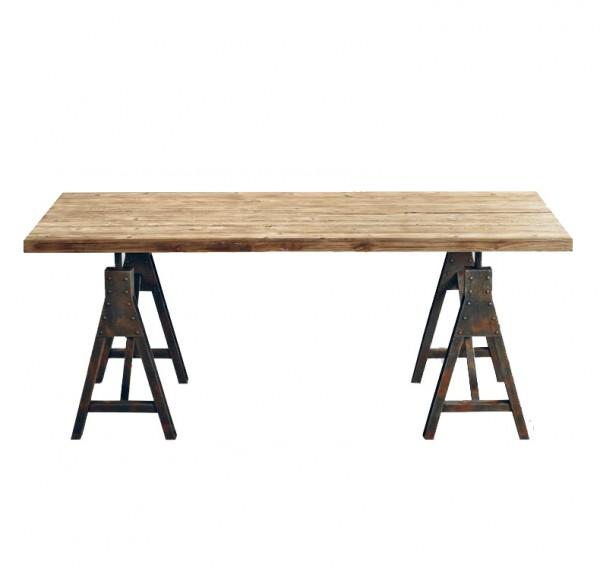 Massivholz Esstisch Industrial Look