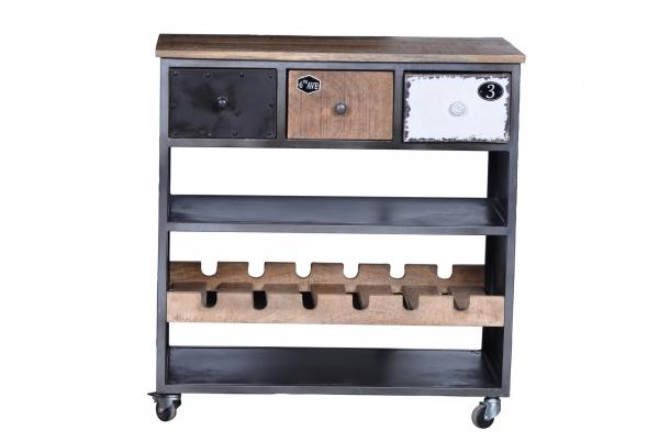Vintage Küchenwagen Retro - Industrial Kommode aus Massivholz