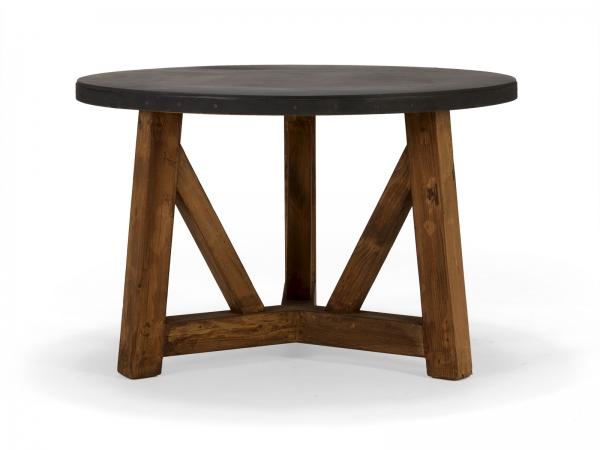Massivholz Esstisch rund aus Pinie