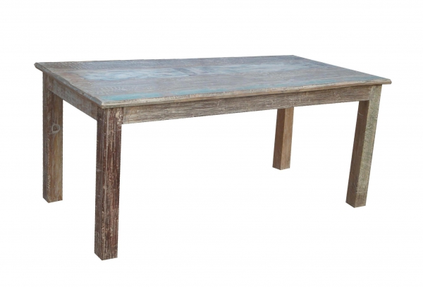 Massiver Holztisch Shabby Chic aus Sheeshamholz