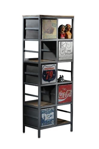 industrie eisen regal industrial mit schubladen. Black Bedroom Furniture Sets. Home Design Ideas