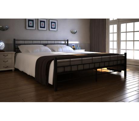 Metall Doppelbett mit Lattenrost 180 x 200 cm schwarz