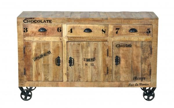 Industrial Möbel Sideboard - Kommode aus Massivholz
