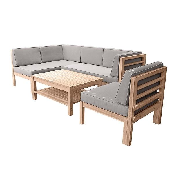 Gartenmöbel Set Holz 3-tlg.