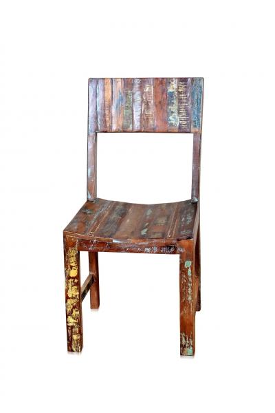 Shabby Chic Stuhl aus Holz ohne Armlehnen