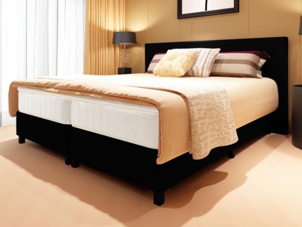 Bettstatt Bett 180x200cm mit Top-Matratze und Kopfende
