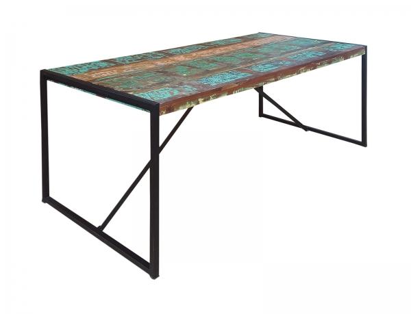 Industrial Möbel Esstisch mit Shabby Style Akzenten