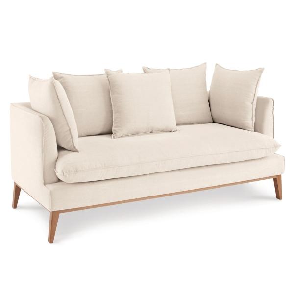 Sofa Puro aus Baumwolle & Leinen