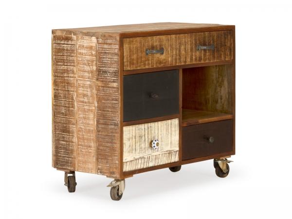 Shabby Möbel Kommode Sideboard Massivholz / Mangoholz