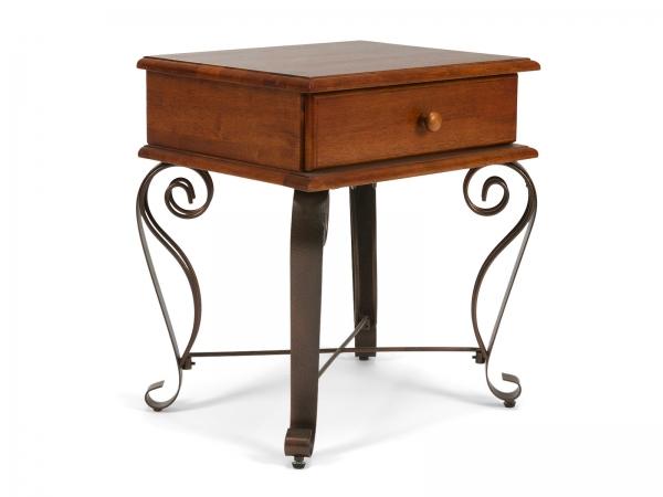 Nachttisch aus Massivholz / Rubberwood