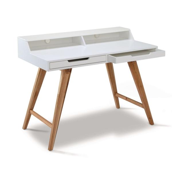 Schreibtisch weiß modern  Schreibtisch weiß im Modern Loft Look