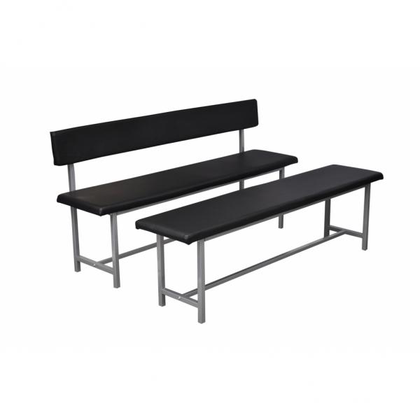 Sitzbank mit Rückenlehne schwarz