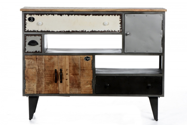 Retro Sideboard - Vintage Kommode - Materialmix