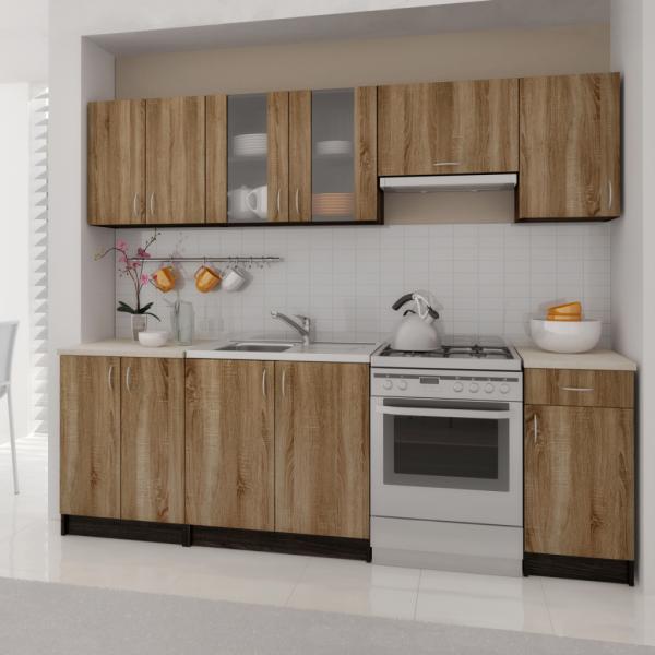 Einbauküche Küchenzeile Küchenblock 240 cm