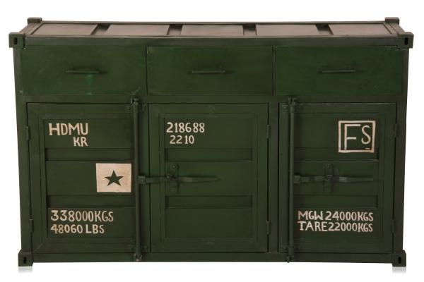Container Look Kommode aus Eisen