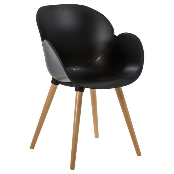 Designer Stuhl Wally - Skandinavisches Design schwarz