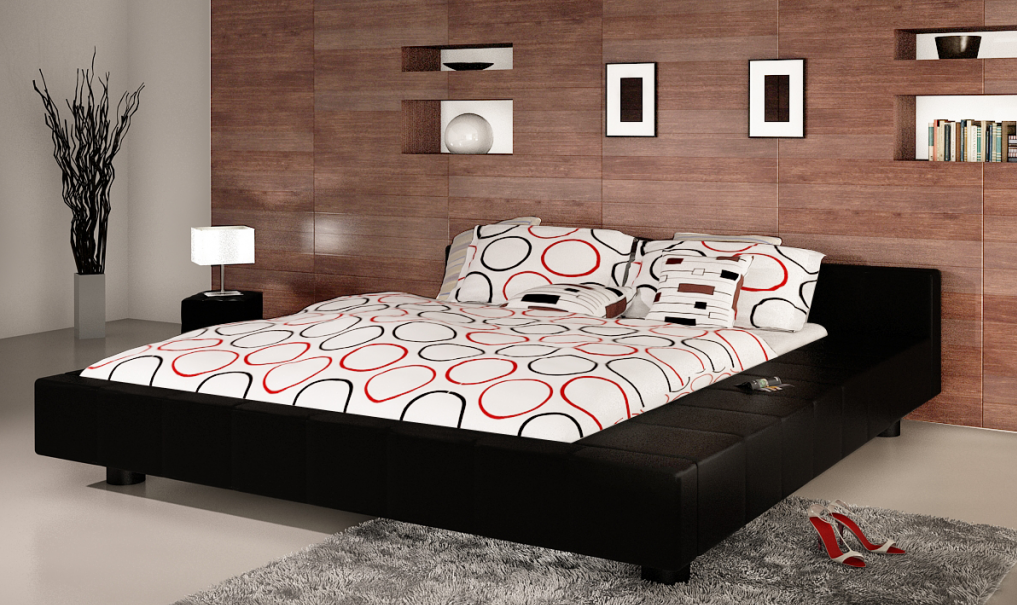 polsterbett mit matratze 180 x 200. Black Bedroom Furniture Sets. Home Design Ideas