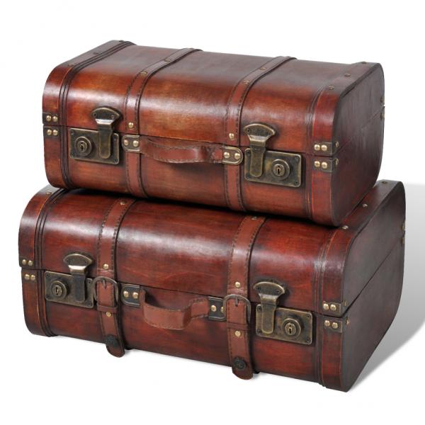 Vintage Schatztruhe Holzkiste 2 Stück - Koffer