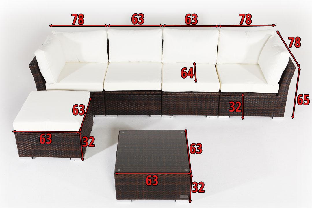 OUTFLEXX Rattan Gartenmöbel aus Polyrattan, mit Kissenboxfunktion