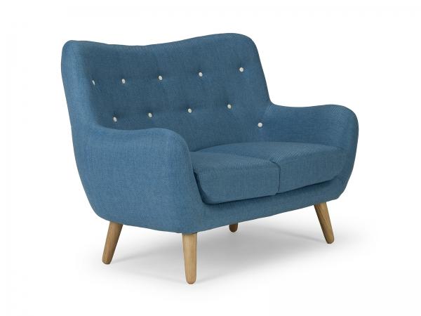 Retro Sofa Vintage Couch 2-Sitzer im 60er Look