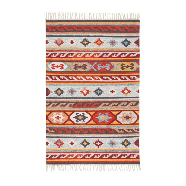 Teppich Kelim-Optik 170 x 240 cm