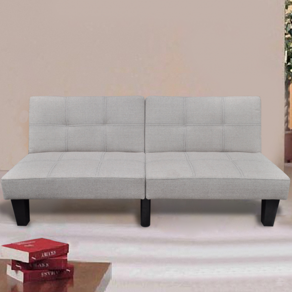 Schlafcouch Couchbett Sofabett grau / weiß