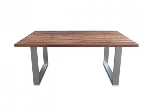 Industrial Chic Design Esstisch mit Nussbaumplatte industrieller Look