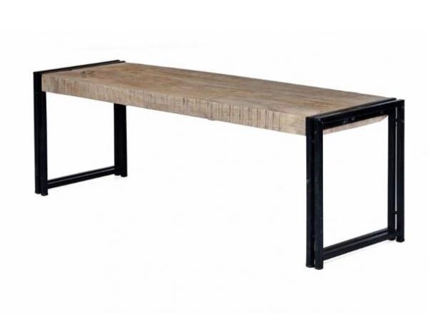 Industrie Design Sitzbank aus Massivholz