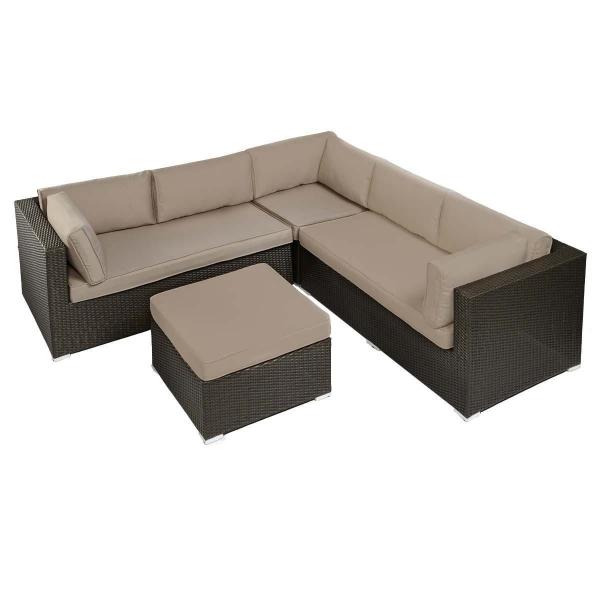 Gartenmöbel Rattan Lounge Set 4-tlg.