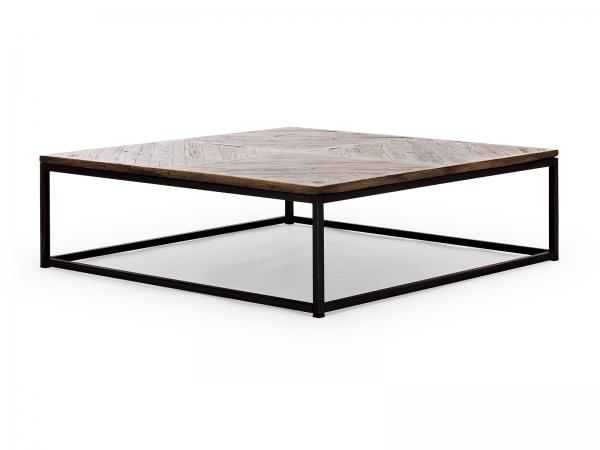 Industrie Look Couchtisch Massivholz - Industrial Möbel
