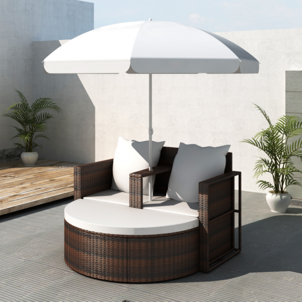 gartenlounge rattan lounge set gartengarnitur braun. Black Bedroom Furniture Sets. Home Design Ideas