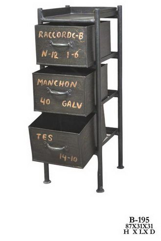 industrial chic design regal mit schubladen. Black Bedroom Furniture Sets. Home Design Ideas