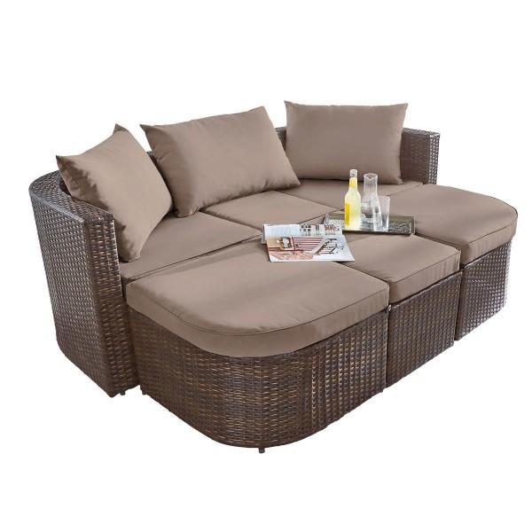 Gartenmöbel Loungebett Rattan