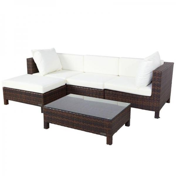 gartenlounge rattan mit dach. Black Bedroom Furniture Sets. Home Design Ideas